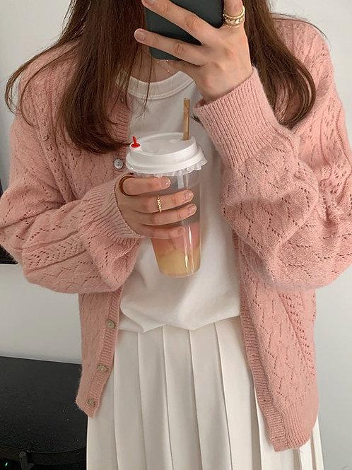 SH823 糖果色溫柔針織上衣