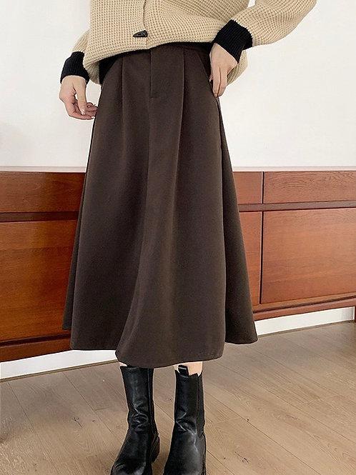 SH729 簡約高腰顯瘦半身裙