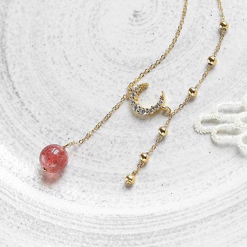 CR095 「愛情之石」草莓晶項鍊