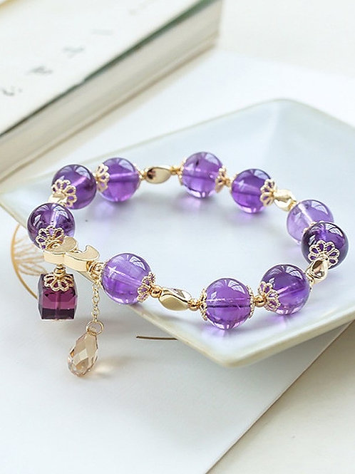 CR138 「智慧」紫水晶手鏈