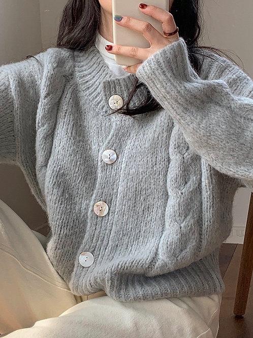 SH606 秋冬柔軟氣質針織上衣