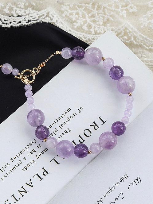 CR084 「助學業」紫水晶手鏈