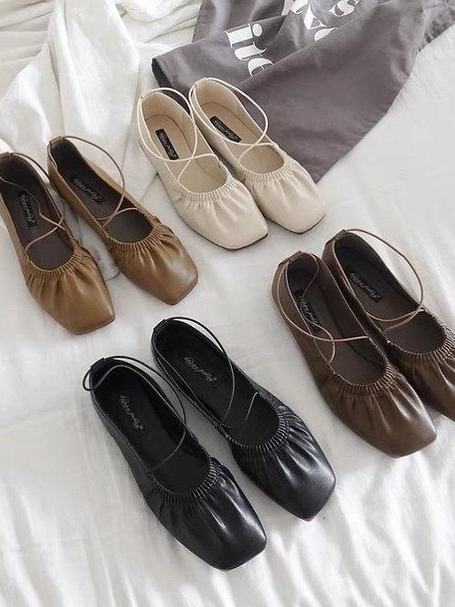 SE320 韓版復古方頭鞋