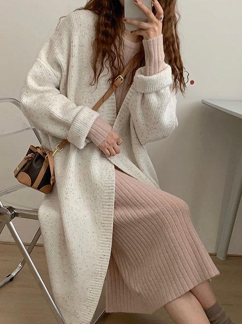 SH610 秋冬氣質長款針織外套