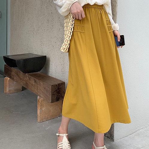 SH424 純色設計感半身裙