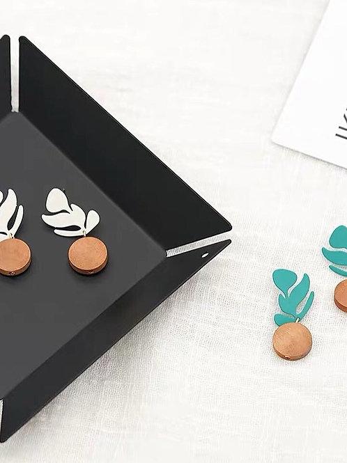 別緻盆栽耳環(925銀針/耳夾)