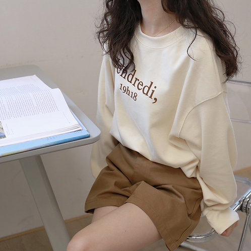 SH495 秋季簡約字母上衣