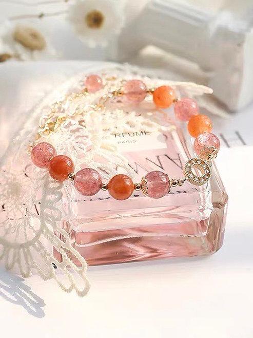 CR116 「提升愛情運」草莓晶項鍊