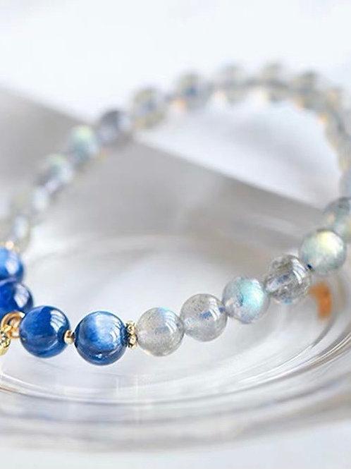 CR124 「抗抑鬱」月光石藍晶石手鍊