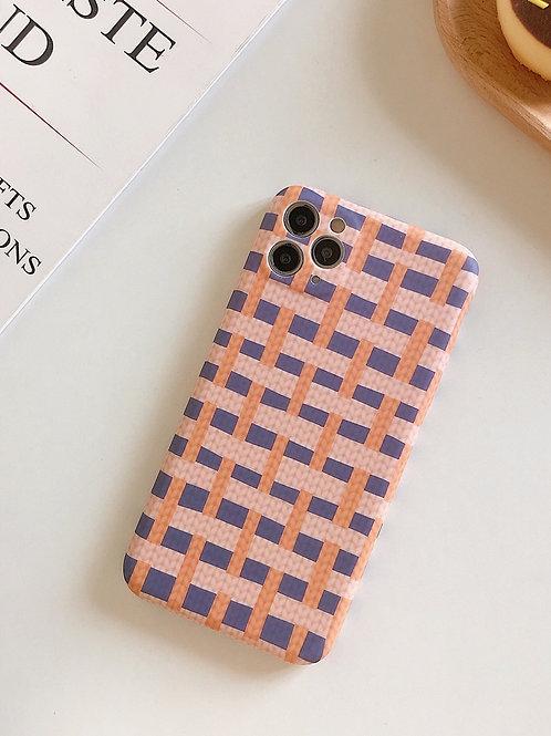 CS645拼色編織紋包邊軟殻