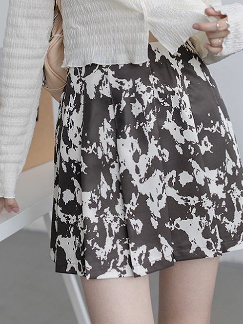 SH453 設計感牛仔紋半身裙