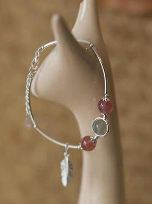 CR154 「愛情運/消除負能量」草莓晶手鏈