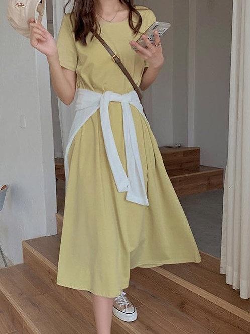 SH098 純色休閒連衣裙