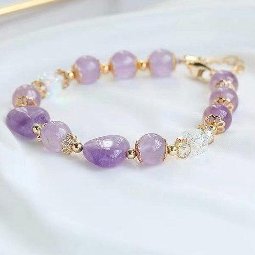 CR105「排解鬱悶」紫玉石手鍊