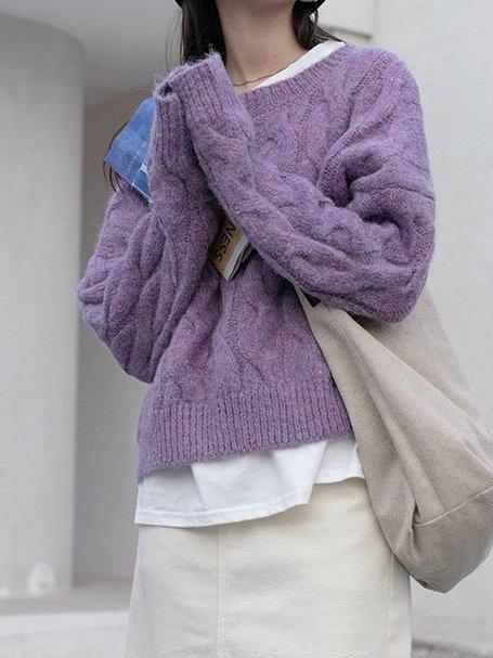 SH752 簡約麻花針織上衣