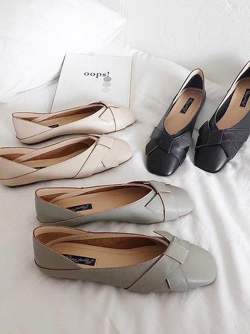 SE023 氣質蝴蝶結平底鞋