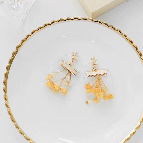 仙氣乾花耳環(925銀針)