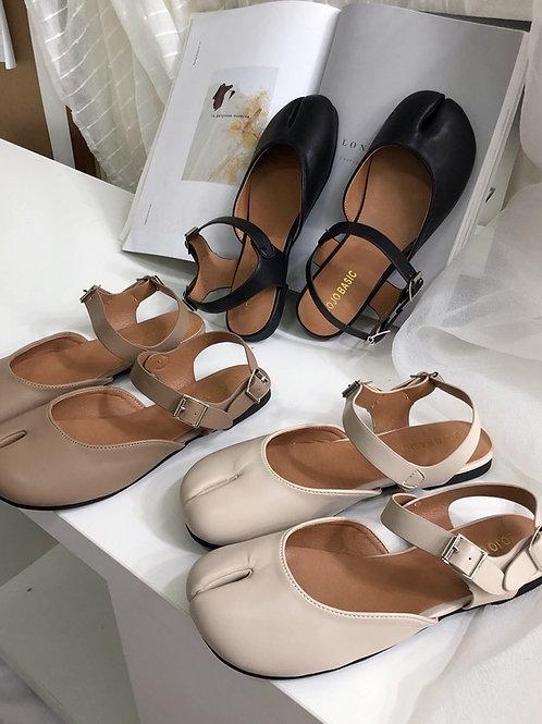 SE314 韓版復古平底涼鞋