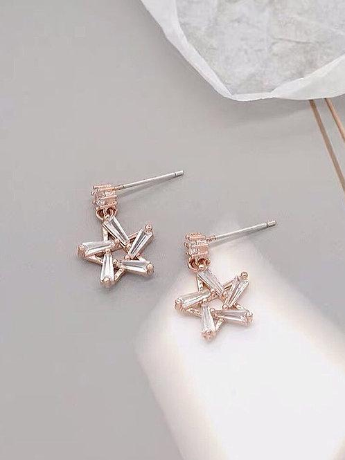 簡約百搭小星星耳環 (925銀針/耳夾)