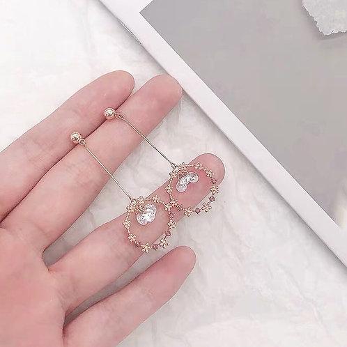 精緻森系花朵耳環(925銀針/耳夾)