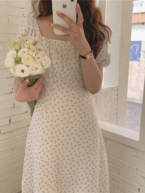 SH886 仙氣碎花氣質連身裙