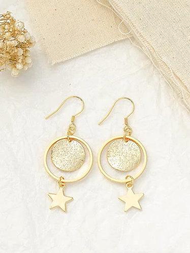 精美星星耳環(925銀針/耳夾)