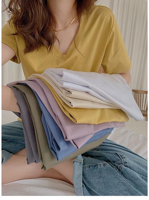 SH961 珍珠光澤感純色衫