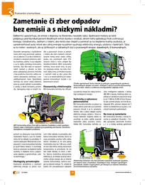 Elektrické zametacie vozy v časopise Komunálna technika