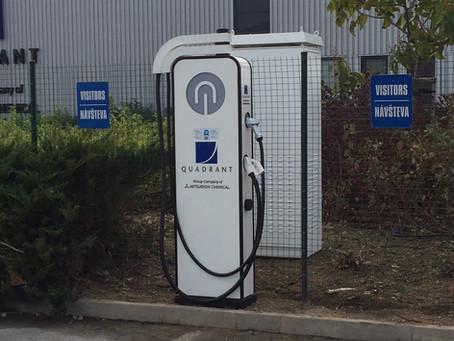 Inštalácia nabíjacích staníc pre elektromobily v Nitre