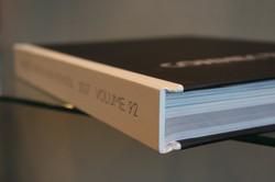Quarter bound cover case creates a sleek look