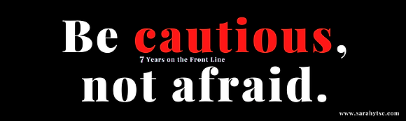 "BE CAUTIOUS, NOT AFRAID. Bumper Sticker 3"" X 10"" 4 mil"