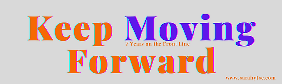 "KEEP MOVING FORWARD Bumper Sticker 3"" X 10"" 4 mil"