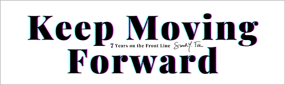 """KEEP MOVING FORWARD"" B/W Bumper Sticker 3"" X 10"" 4 mil"