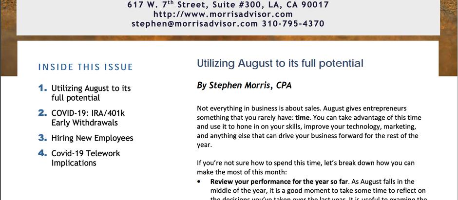 Morris Financial Advisors: August 2020 Spotlight
