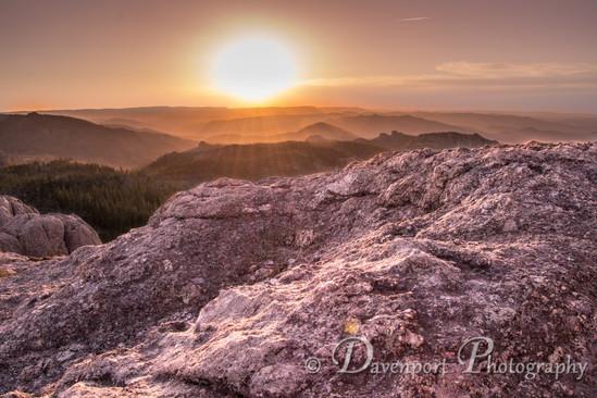 Little Devils Tower Sunset South Dakota