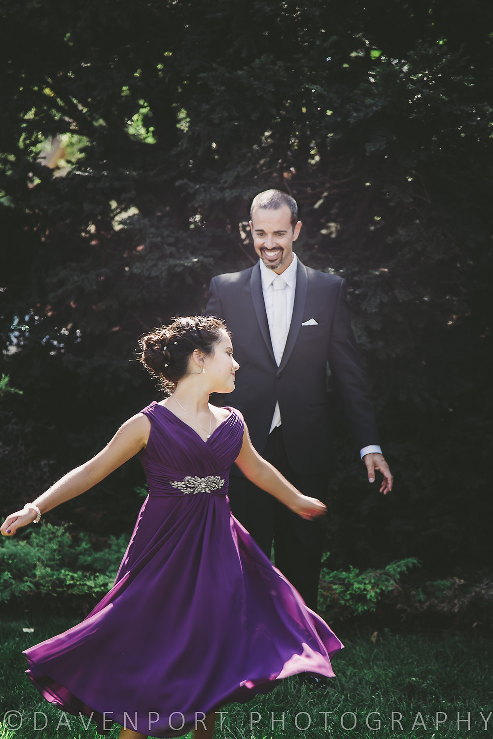 Dad & Daughter First Look | MN Wedding Photography