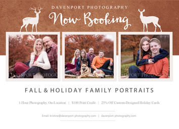 Fall & Holiday Family Portraits | Book Now!