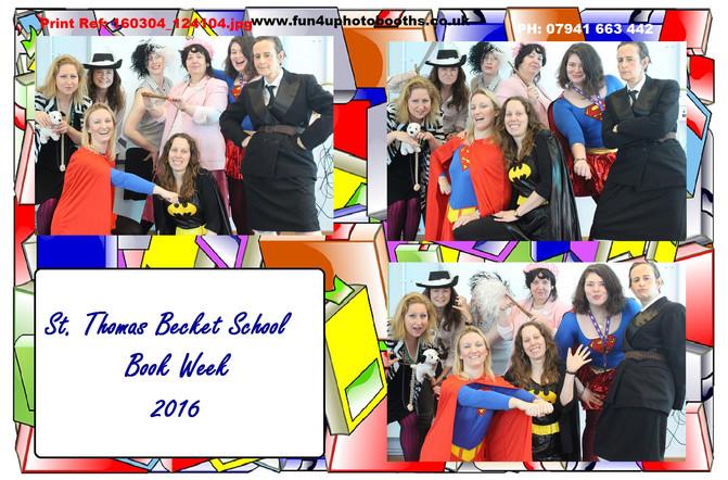 Fun4U Photobooths at St. Thomas Becket    Primary School Book Week 2016