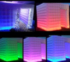 LED inflatable photobooth