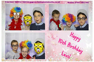 Boy's Party Photobooth ideas