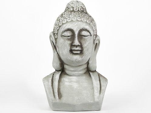 Grey Buddha Head, Rustic Stone Effect, Buddha Ornament, Indian Statue, Indian Ar