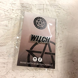 3 For 2 - Witch Enamel Pin - Black & Silver Plated Pin