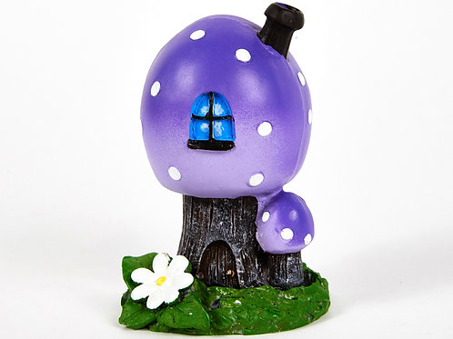 Purple Toadstool House Incense Burner, with 12 Free Incense Cones