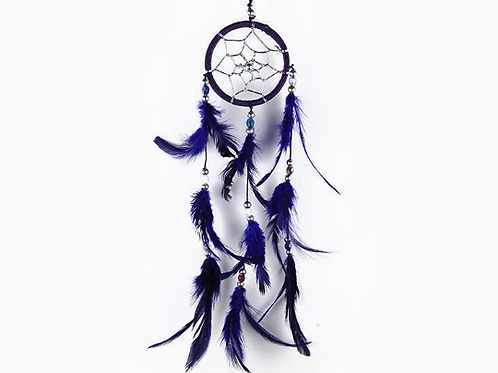 Dream Catcher With Three Line Beads Purple 6cm