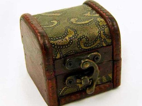 Small Wooden Floral Print Trinket Box, Jewellery Box