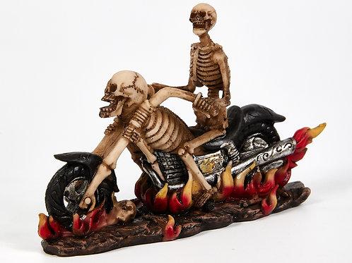 Skeleton On Motorcycle, Motorbike, Chopper, Ornament