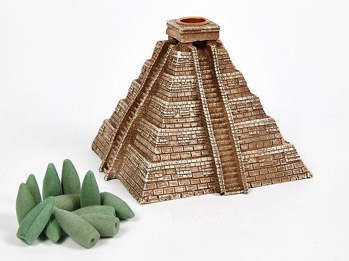 Aztec Pyramid Backflow Incense Burner