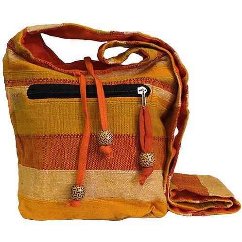 Orange Shoulder Bag, Eco Friendly Sling Bag