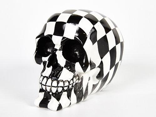 Check Chequered Print Decorative Skull