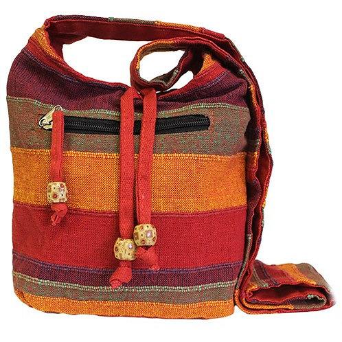 Red Shoulder Bag, Eco Friendly Sling Bag